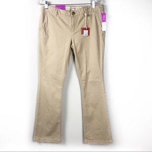 NWT Boot Cut Mid Rise Khaki Pants Size 8